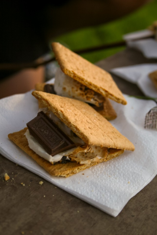 A camp classic: s'mores!
