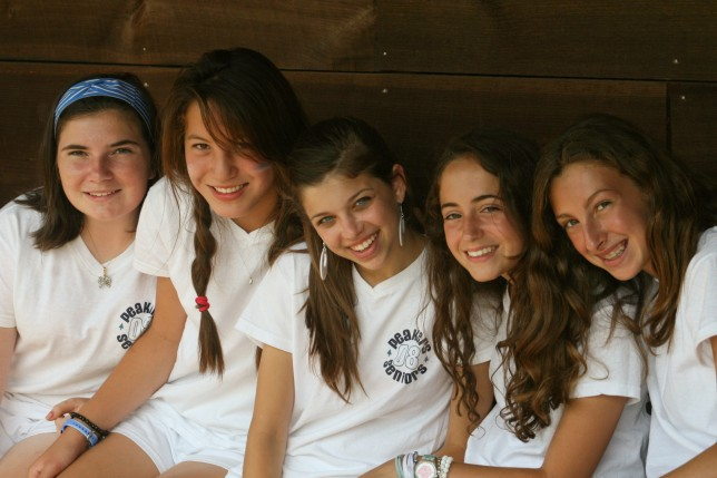Campers at Point O'Pines Camp for Girls
