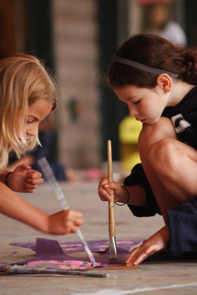 Campers Painting at Arts & Crafts