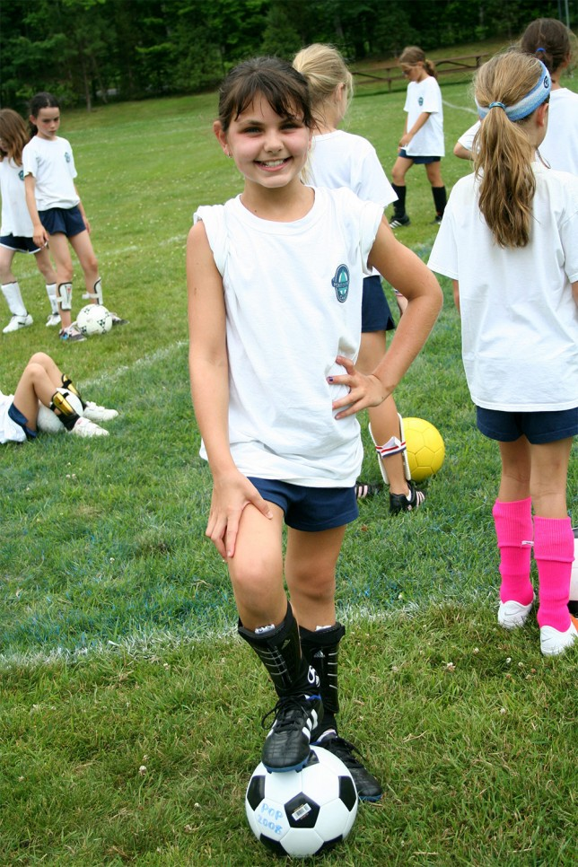 An enthusiastic soccer player