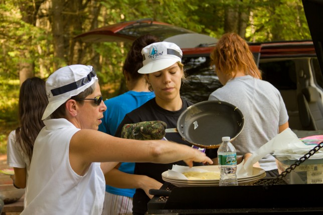 Staff cooking