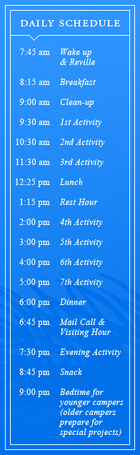 The Daily Schedule at the Point
