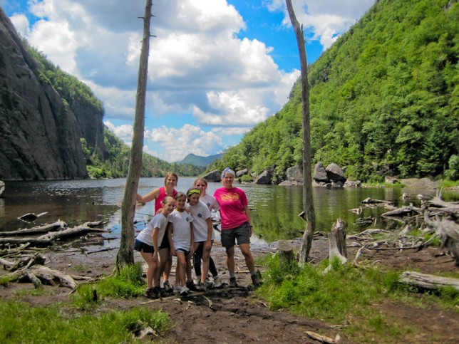 Campers at Avalanche Lake