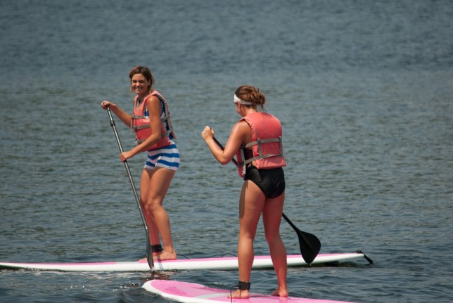 Fun at Camp on a Stand Up Paddle Board