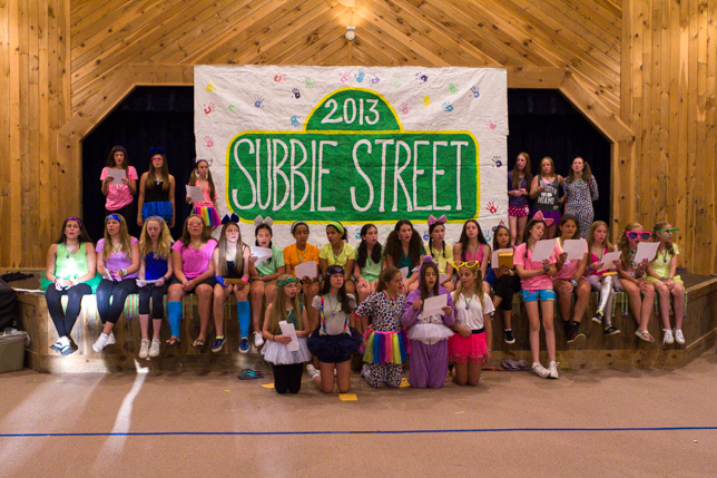 The Sub campers at Sub Night 2013