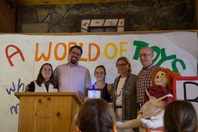 Peaker Cameron honored as Camper of the Year.