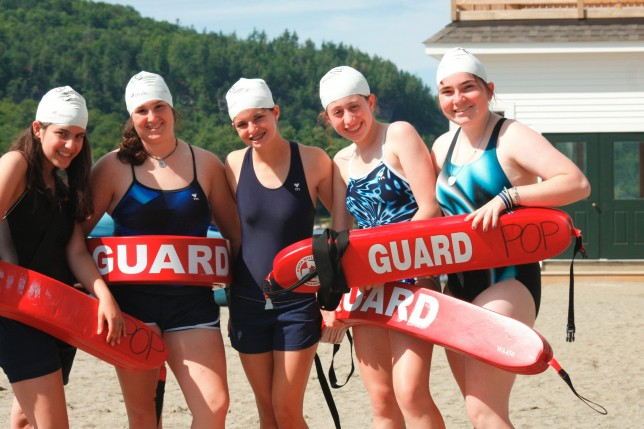 Certified lifeguards at Point O'Pines