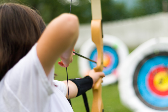 Camper aims at Archery