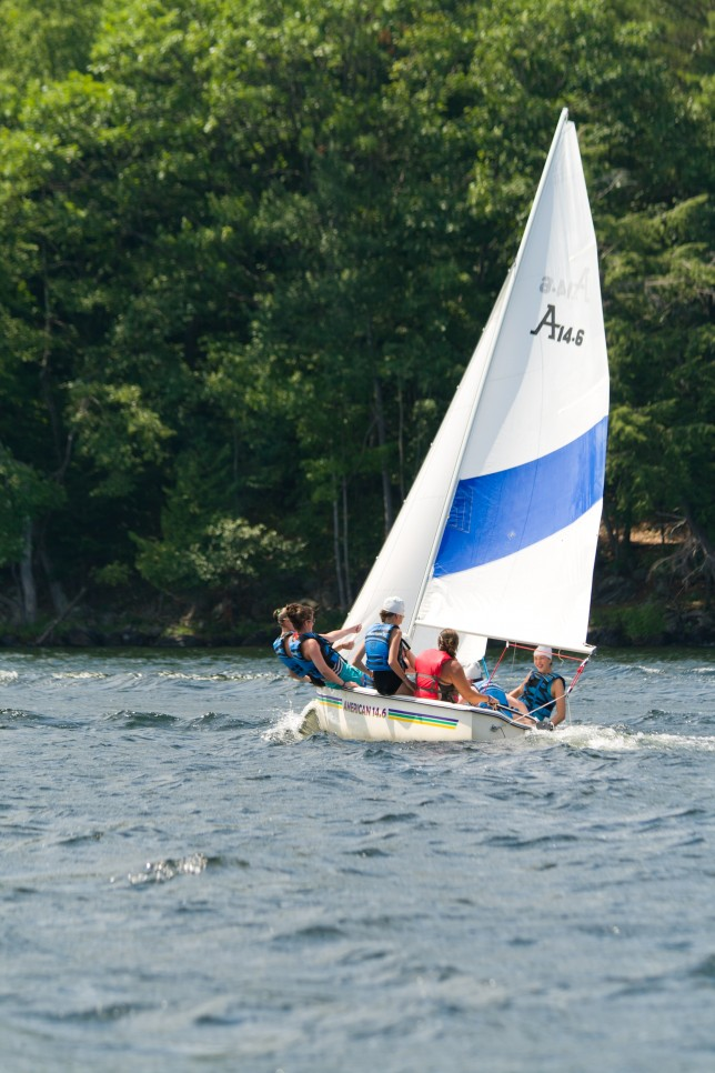 Sailing on Brant Lake in NY