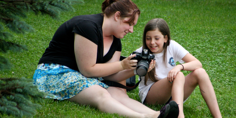 Personal instruction from the camp photographer