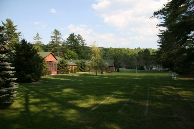 An athletic field at Point O'Pines Camp for Girls