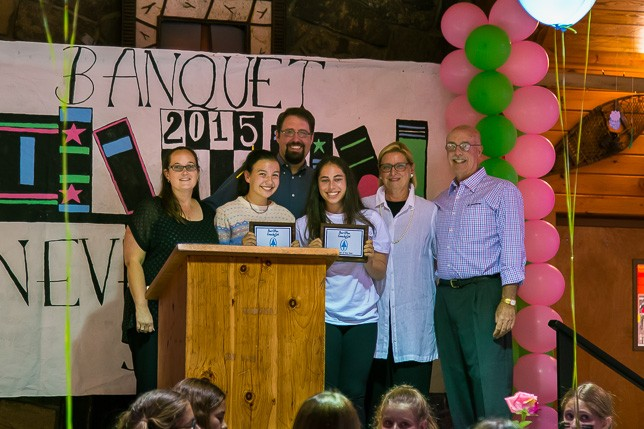 Peakers Natalie and Bailey honored as Camper of the Year