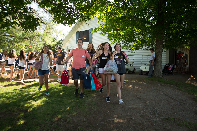 Parents rush to see their daughters. at Visiting Day