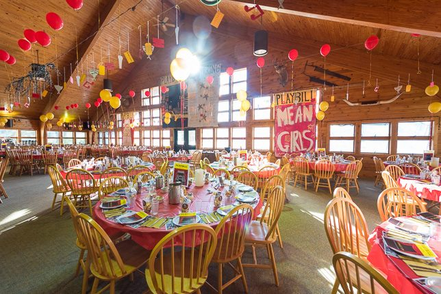 The beautiful decor at our Banquet prepared the the Peakers.