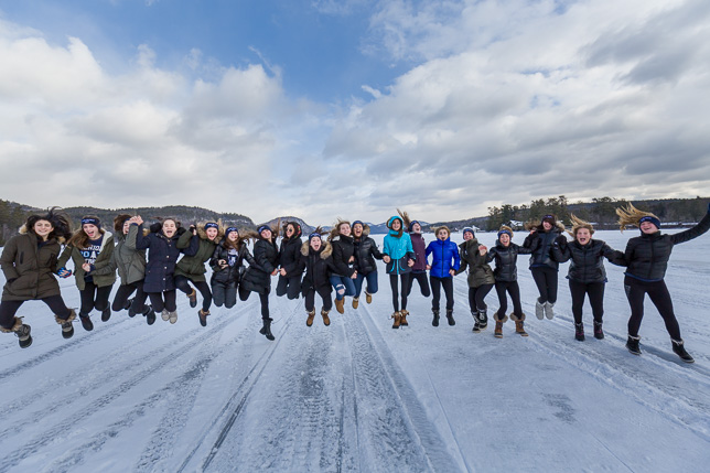 2019 Peakers jump of the ice.