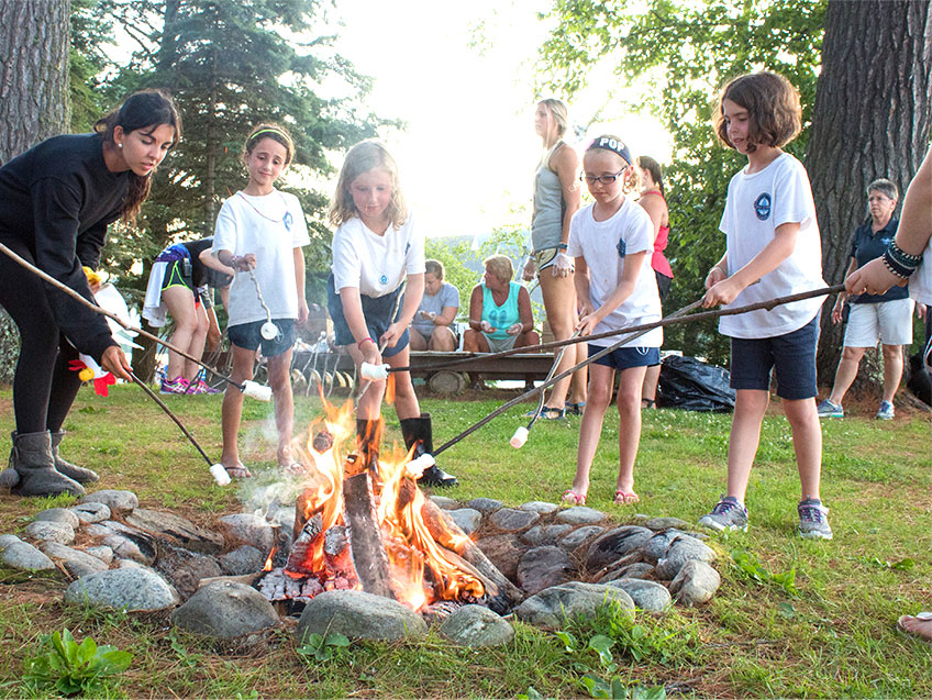 Evening activities at Point O'Pines summer camp