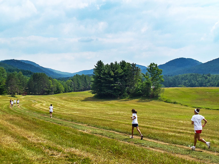Runners at summer camp
