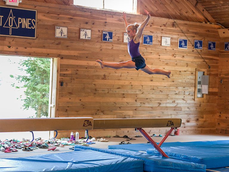 gymnast at sleep away camp in new york