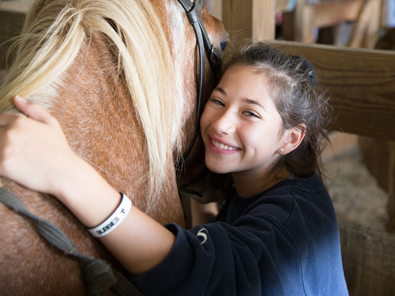 Camper and her horse