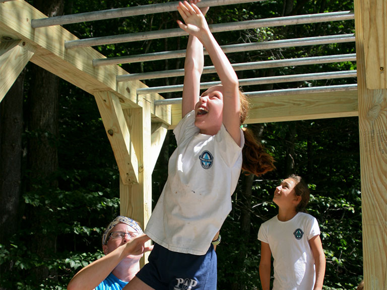 Adventure fitness at camp