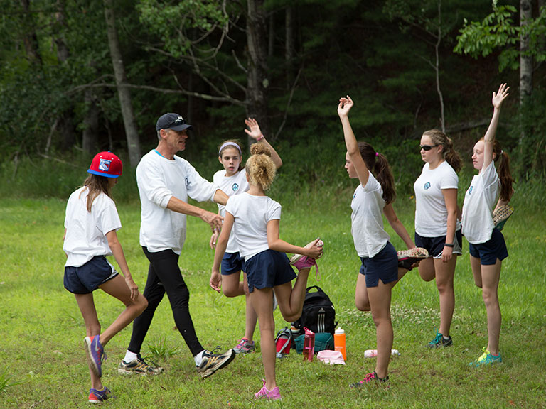 Fitness at summer camp