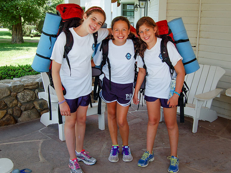Summer campers ready for a hike